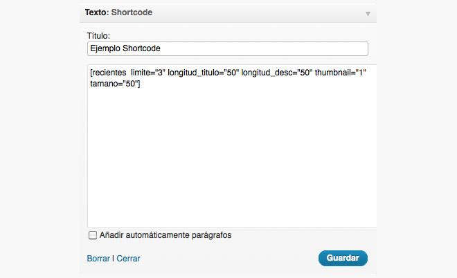 imagen de insertar entradas relacionadas en widget de wordpress